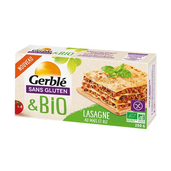 Gerblé Sans Gluten Bio Lasagnes Maïs Riz 250g