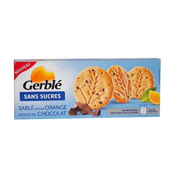 Gerblé sans Sucres Sablé Orange Pépites de Chocolat 132g
