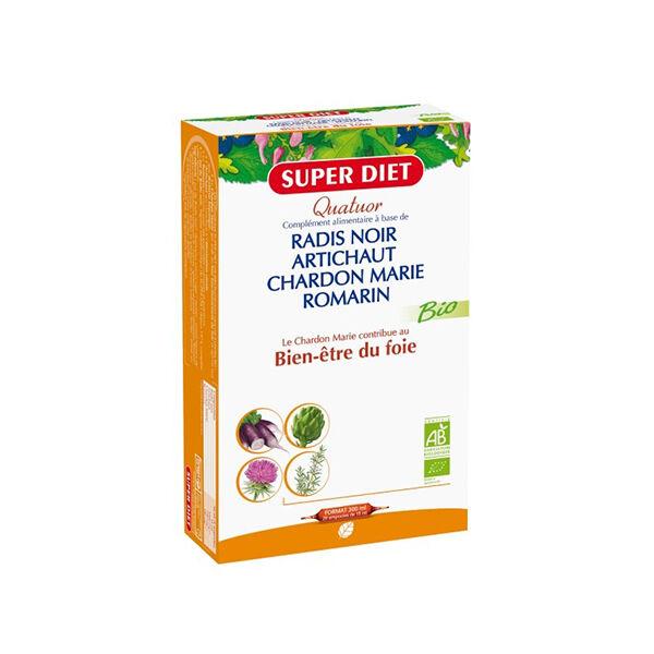 SuperDiet Super Diet Quatuor Bio Bien-Etre du Foie 20 ampoules