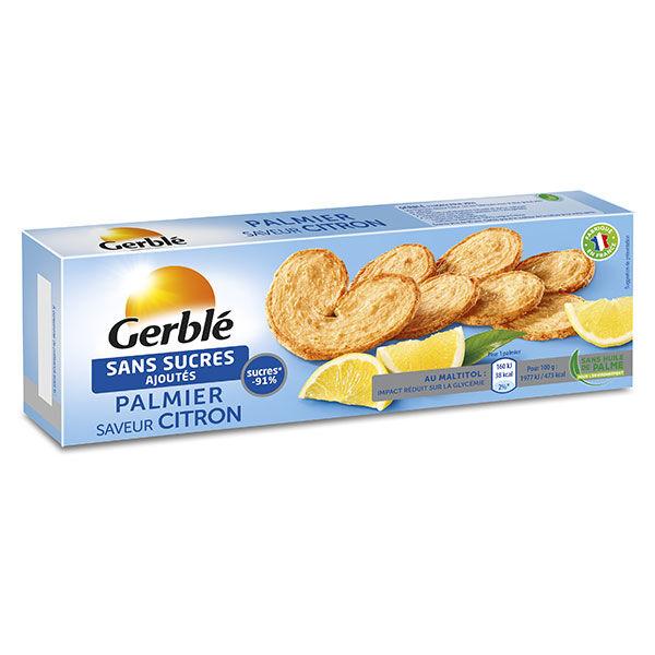Gerblé Sans Sucres Ajoutés Biscuit Palmier Citron 100g