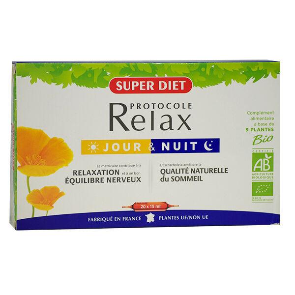 SuperDiet Super Diet Protocole Relax Jour et Nuit Bio 20 ampoules