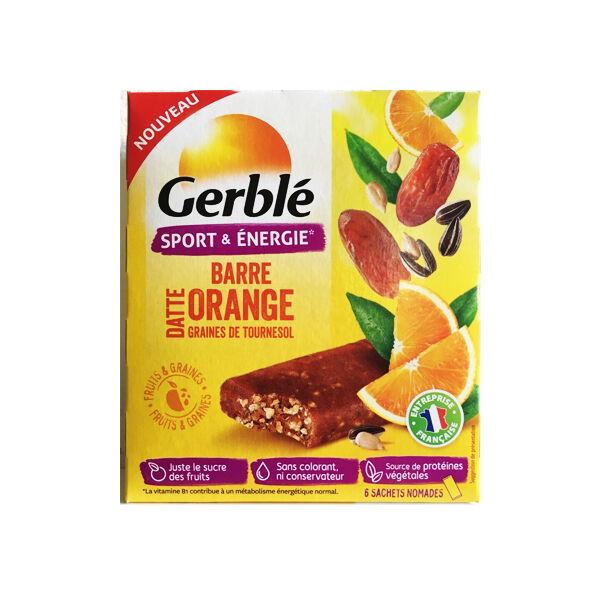 Gerblé Sport Gerblé Sport Barres Datte Orange Graines de Tournesol 6 x 25g