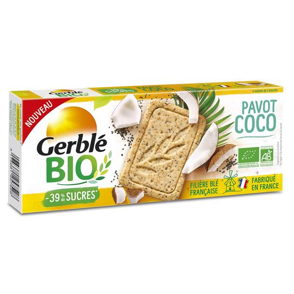 Gerblé Bio Pavot Coco 132g