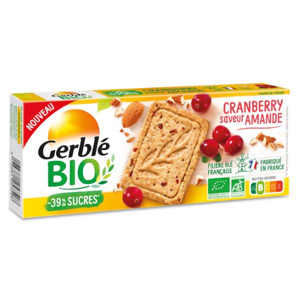 Gerblé Bio Cranberry Saveur Amande 132g