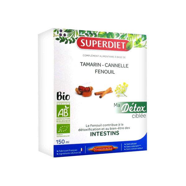 SuperDiet Super Diet Ma Détox Ciblée Intestins Bio 10 ampoules