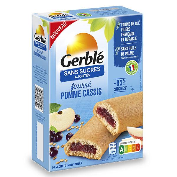 Gerblé Sans Sucres Ajoutés Fourré Pomme Cassis 180g