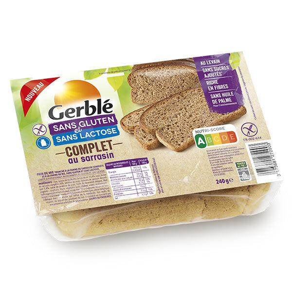 Gerblé Sans Gluten & Sans Lactose Pain Complet au Sarrasin 240g