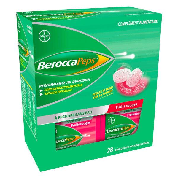 Bayer Healthcare Berocca Peps Fruits Rouges 28 comprimés orodispersibles