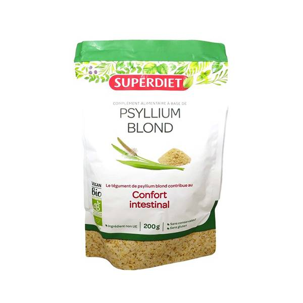 Superdiet Superfood Téguments de Psyllium Blond Bio 200g