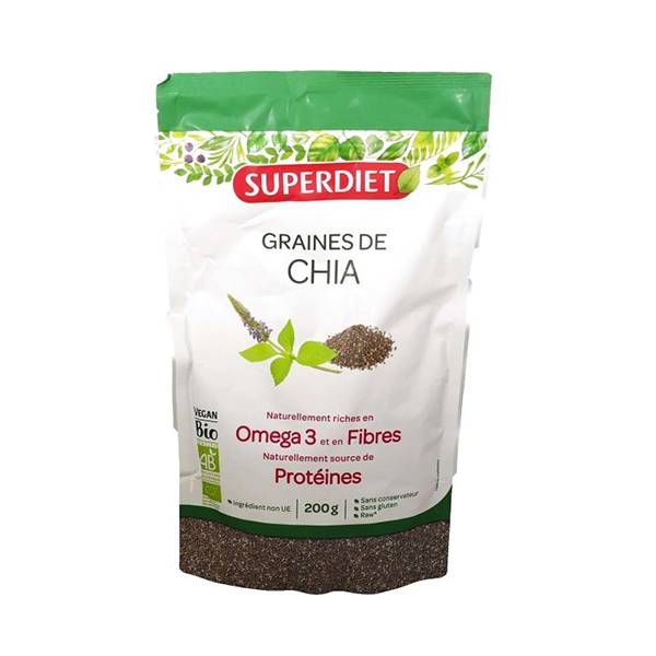 SuperDiet Super Diet Superfood Graines de Chia Bio 200g