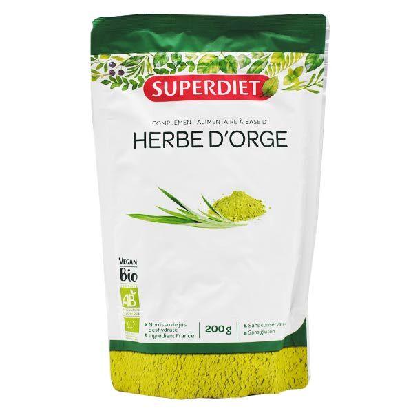 Superdiet Superfood Herbe d'Orge Bio 200g