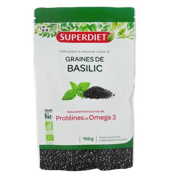 SuperDiet Super Diet Graines de Basilic 150g
