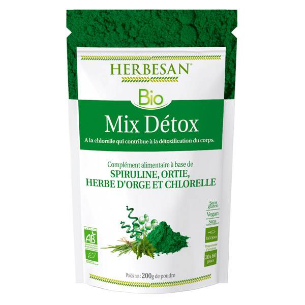 Herbesan Superfood Mix Détox Chlorelle Bio 200g