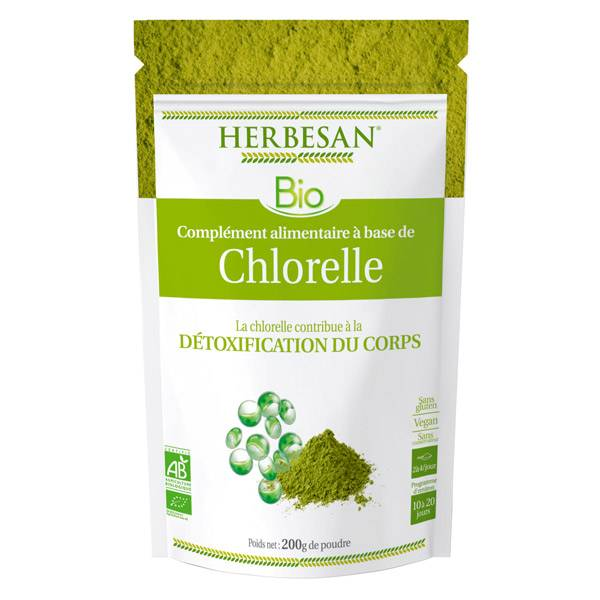 Herbesan Superfood Chlorelle Bio poudre 200g