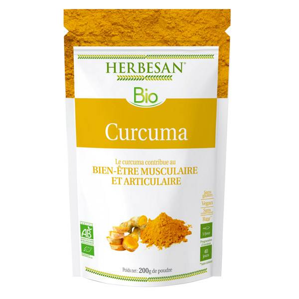 Herbesan Superfood Curcuma Bio poudre 200g