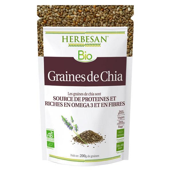 Herbesan Superfood Graines de Chia Bio 200g