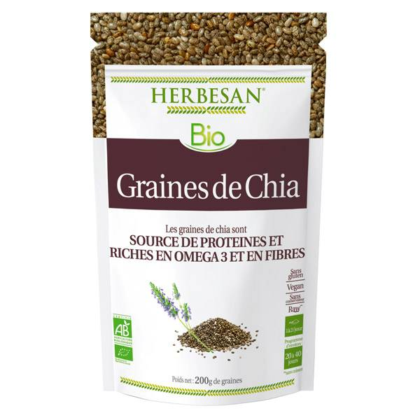 Herbesan Superfood Graines de Chia Bio 200g