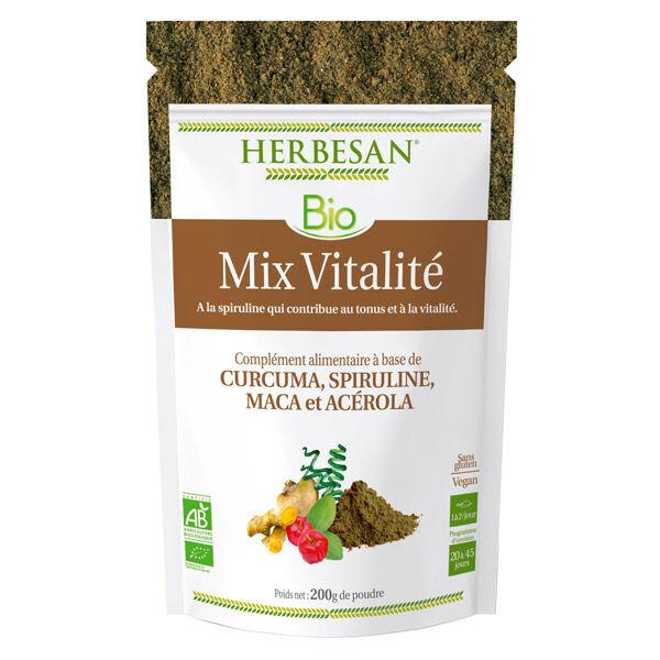 Herbesan Superfood Mix Vitalité Spiruline Bio poudre 200g