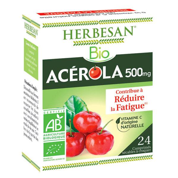 Herbesan Acerola Bio 500 24 comprimés à croquer