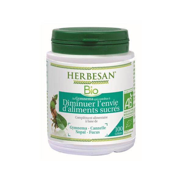 Herbesan Gymnema Diminue l'Envie d'Aliments Sucrés Bio 100 gélules