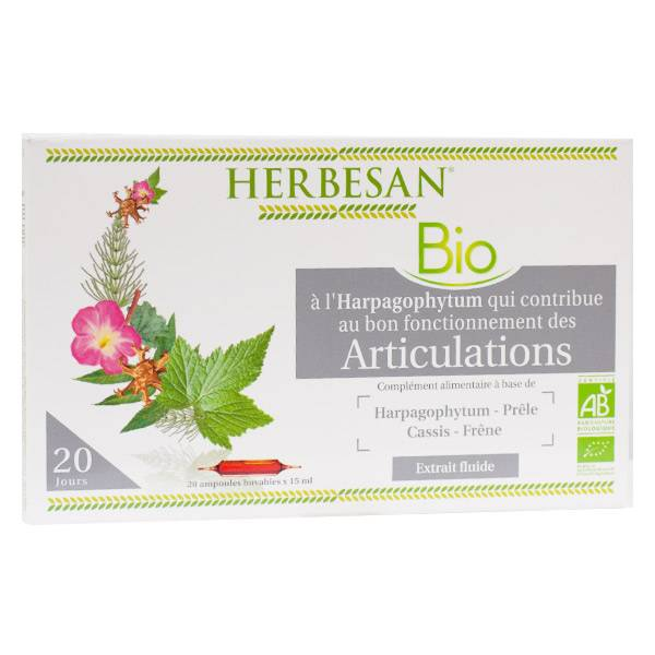 Herbesan Harpagophytum Articulations Bio 20 ampoules