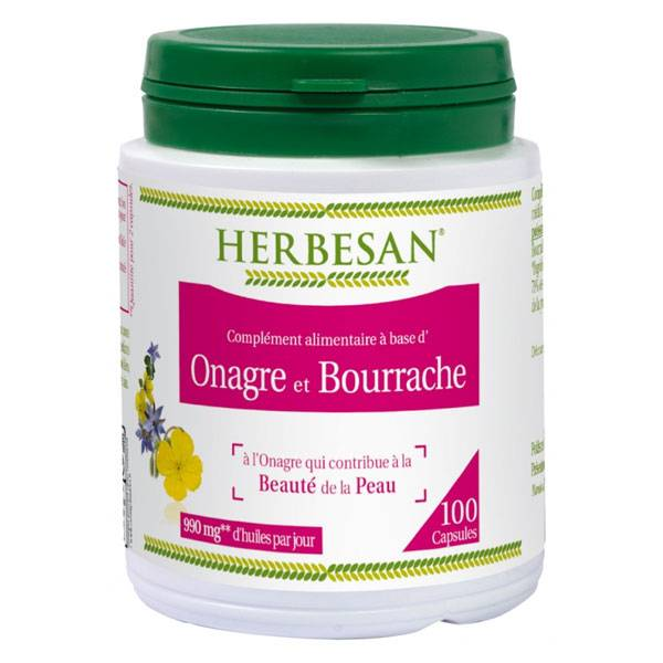 Herbesan Onagre et Bourrache 100 capsules