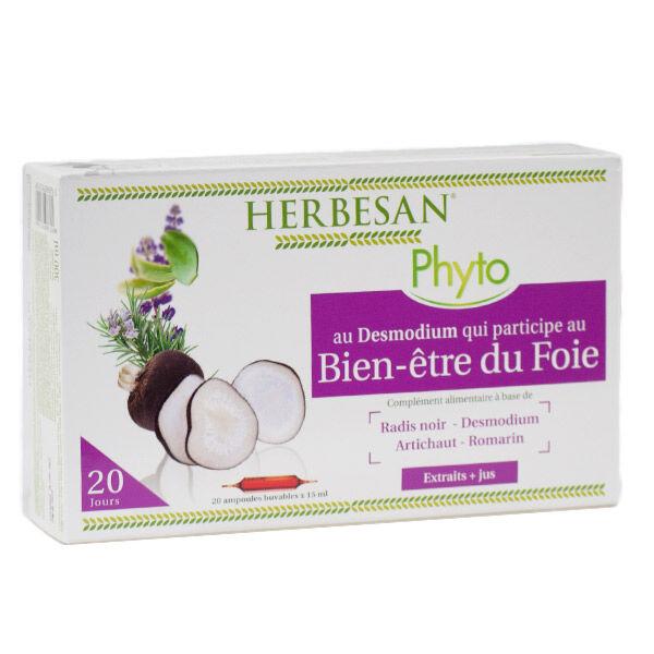 Herbesan Desmodium Bien-Être du Foie 20 ampoules