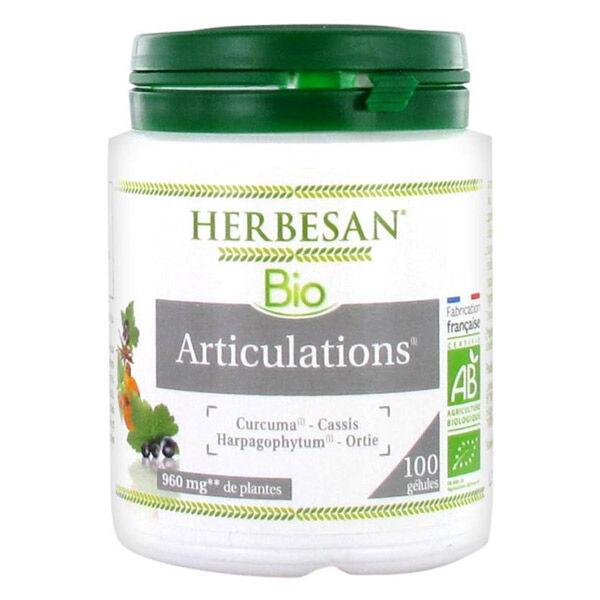 Herbesan Curcuma Articulations Bio 100 gélules