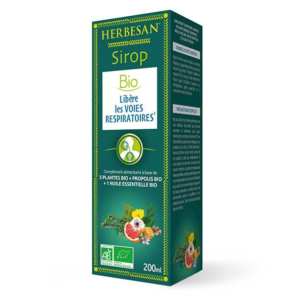 Herbesan Sirop Respiration Bio 200ml