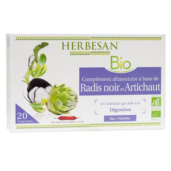 Herbesan Radis Noir Artichaut Bio 20 ampoules 15ml