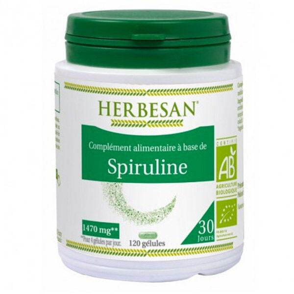 Herbesan Spiruline Bio 120 gélules
