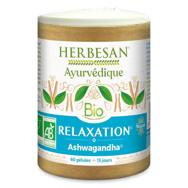 Herbesan Ayurvedique Bio Relaxation Ashwagandha 60 gélules