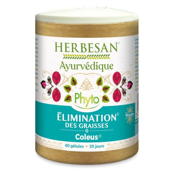 Herbesan Ayurvedique Phyto Elimination des graisses Coleus 60 gélules