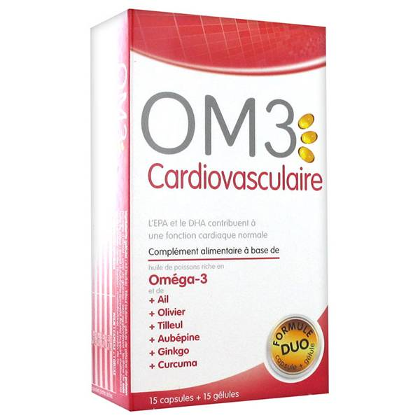 OM3 Cardiovasculaire Formule Duo 15 capsules+ 15 gélules
