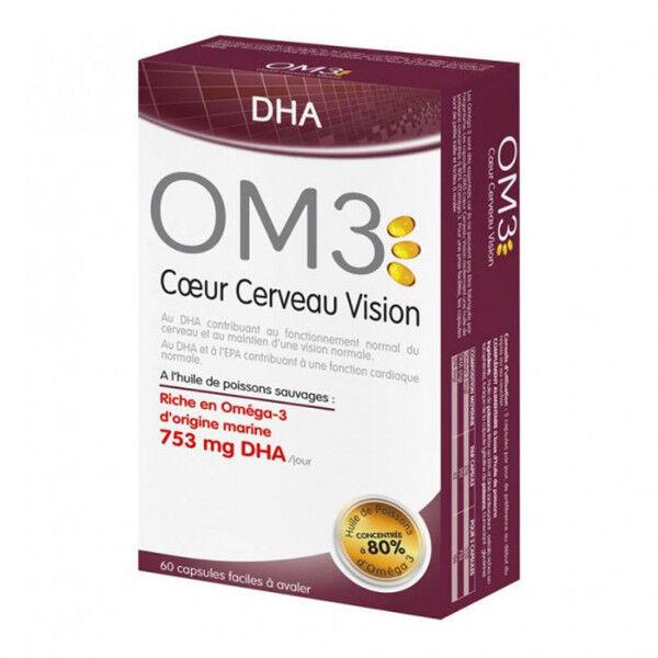 OM3 DHA - Coeur Cerveau Vision - 60 capsules