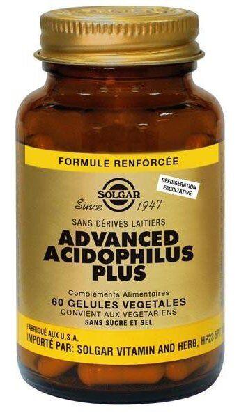 Solgar Advanced Acidophilus Plus 60 gélules végétales