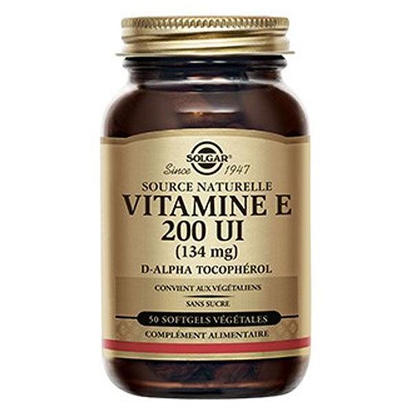 Solgar Vitamine E 200 UI 50 softgels végétales