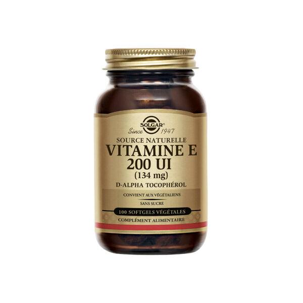 Solgar Vitamine E 200 UI 100 softgels végétales