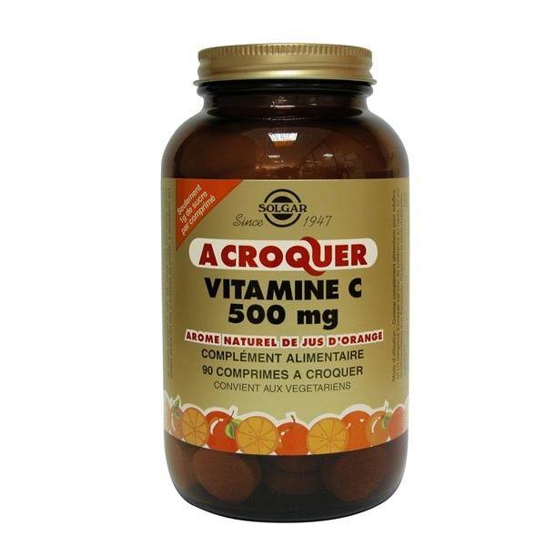 Solgar Vitamine C 500mg Orange 90 comprimés à croquer