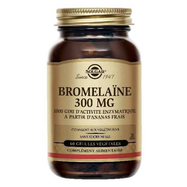 Solgar Bromélaïne 300mg 60 gélules