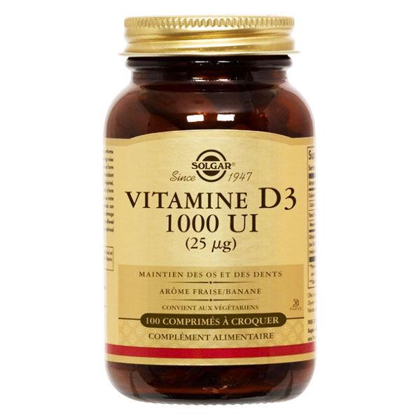 Solgar Vitamine D3 1000UI 100 gélules