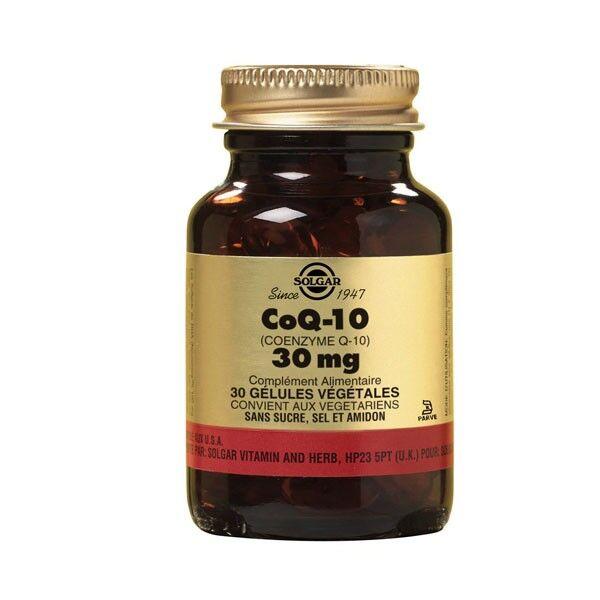 Solgar Co Q 10 30mg 30 gélules végétales