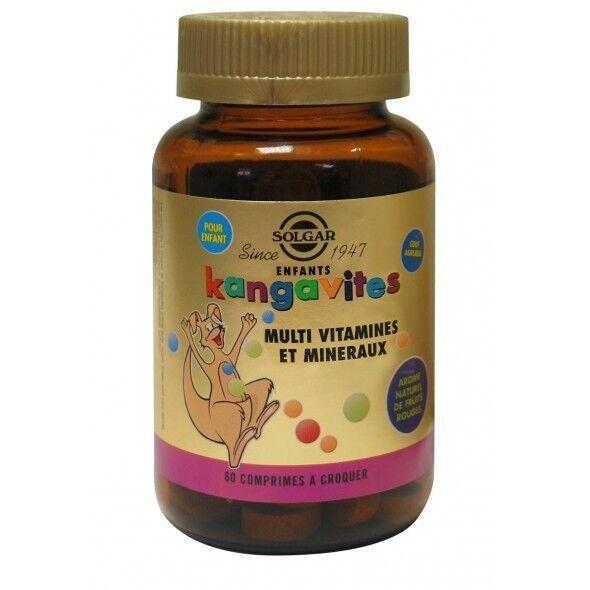 Solgar Kangavites Arôme Fruits Rouges 60 comprimés à croquer