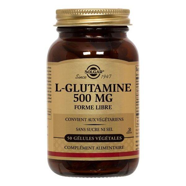 Solgar L-Glutamine 500mg 50 gélules végétales