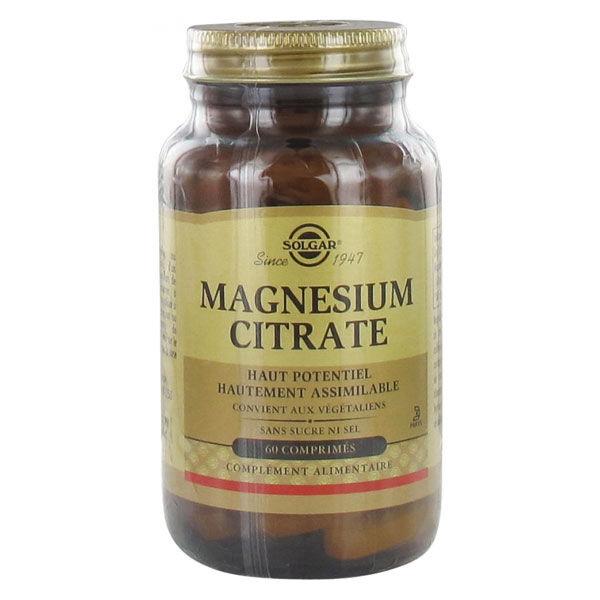 Solgar Magnésium Citrate 60 comprimés