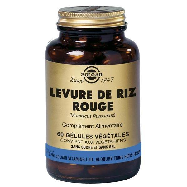 Solgar Levure de Riz Rouge 60 gélules végétales