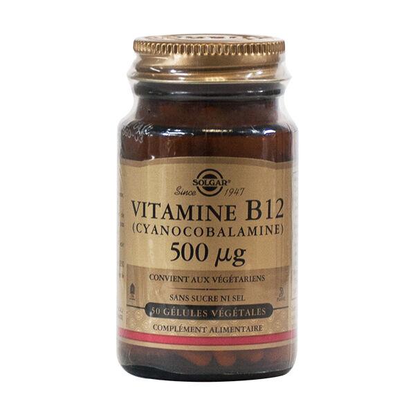 Solgar Vitamine B12 cyano -Cobalamine- 500 microg 50 gélules végétales