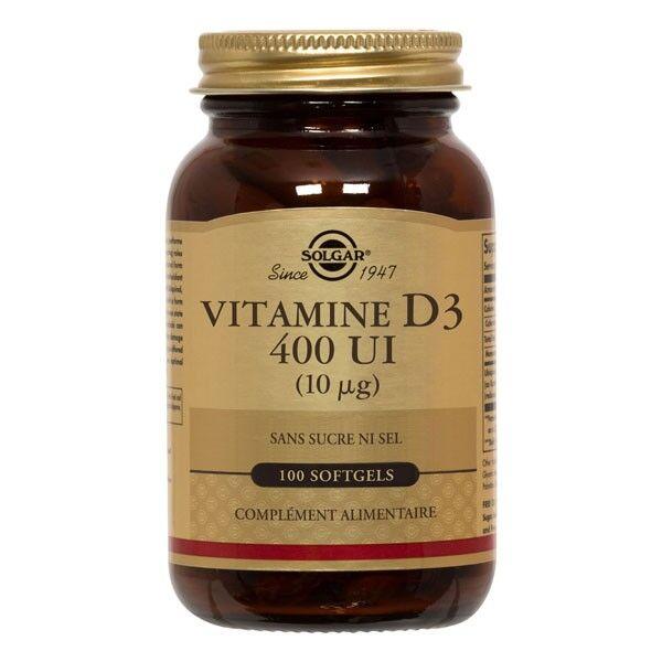 Solgar Vitamine D3 - 100 Softgels