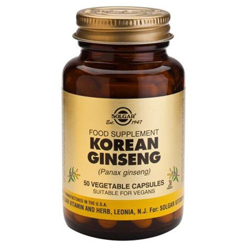 Solgar Ginseng coréen Panax - 50 gélules végétales
