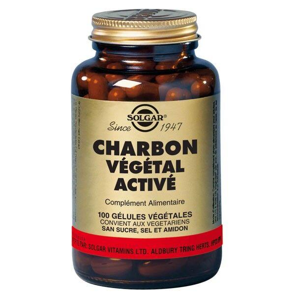 Solgar Charbon Végétal Activé 100 gélules végétales
